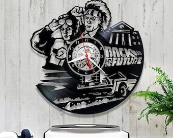 Back to the Future Vinyl Clock/Wall Clock 1/0/6/Vinyl Record Clock/Wall Vinyl Clock/Handmade Clock/Retro Vinyl Clock/Lp Clock