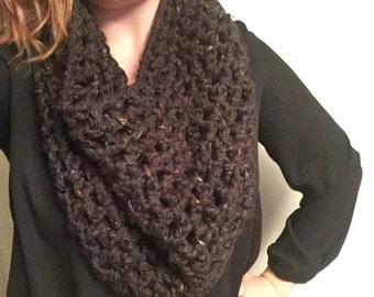 Cowl Neck Crochet Scarf - MADE TO ORDER