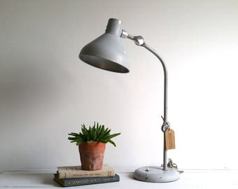 Vintage large industrial desk lamp