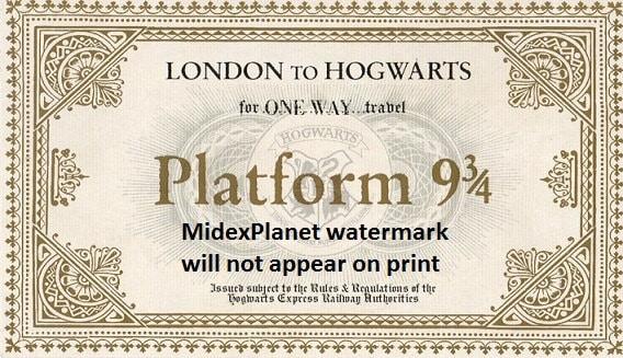 Vibrant image within hogwarts express printable