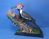handmade pileated woodpecker figure