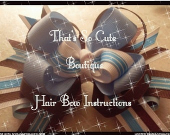 hair bow instructions how to make hair bows