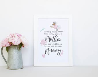 Mother's Day Print, Mother's Quote, Mother's Day Gift, Personalised Print, Mum Print