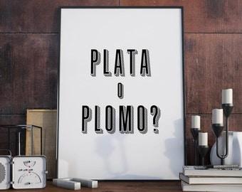 Plata o Plomo? - Poster, Pablo Escobar, Narcos