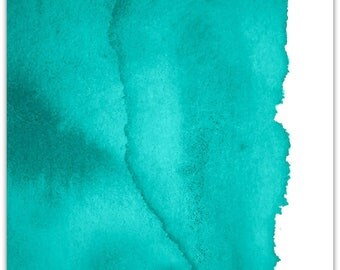 Harmony 01 Canvas, Green Wall Art, Abstract, Paper Print, Modern, Poster, Aqua, Contemporary