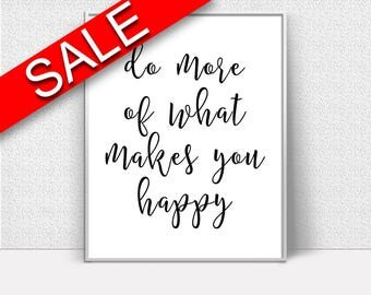 Wall Decor Happy Printable Happy Prints Happy Sign Happy Inspiring Art Happy Inspiring Print Happy Printable Art Happy office wall decor