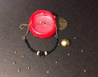 """""""Black rose"""" bracelet"""