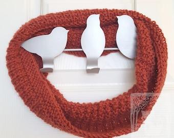 Alpaca Cashmere Cowl, Reversible Rib, Soft & Warm Knit
