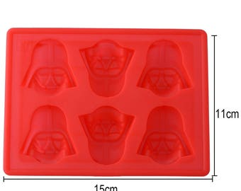 Creative Silicone Star Wars Darth Vader Ice Tray Mold Cookies Chocolate Soap Baking Mould DIY Kitchen Tool