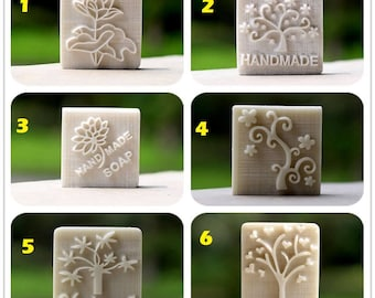 Handmade white Resin Soap Stamp Stamping Soap Mold Craft Choose Your Design