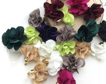 10pcs/bag Flowers pendant tassels/Brush earrings accessories/jewelry accessories