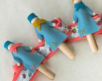 The ladies wreath Kit • memo • diy kit • Garland jumble • kit sewing • art to do it yourself