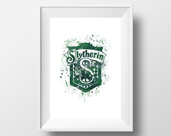 Harry Potter, Slytherin, Hogwart *Print*
