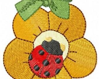 Flower with Ladybug imitation thun