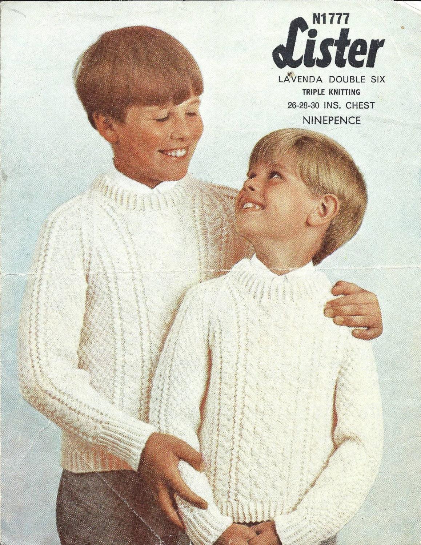 3587c43fd Lister N1777 Child s Aran Sweater