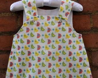 Pinafore Bird Dress Size 3-6 Months