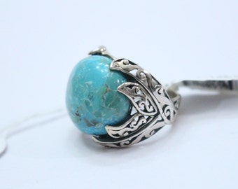 Sterling Silver Turquoise Ring sz7