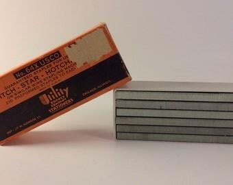 Vintage Mid-Century Bostitch-Star-Hotchkiss 500 staples in original box No. 64xUSCO