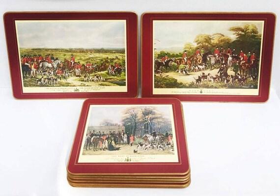 pimpernel vintage placemats english wooden cork rare fox