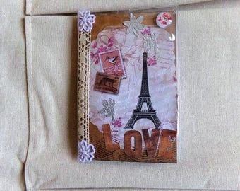 Small notebook so shabby Paris theme