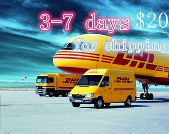 Express Delivery Upgrade,Fast shipping service by DHL Express,takes 3-7 days,Please provide the phone number if you buy it