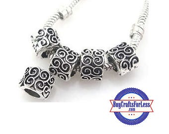 Carved Beads with Swirl Design,  8 pcs +Discounts & FREE Shipping*