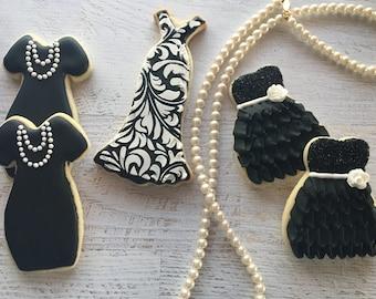 1 Dozen Fancy Dress Assortment Decorated Cookies