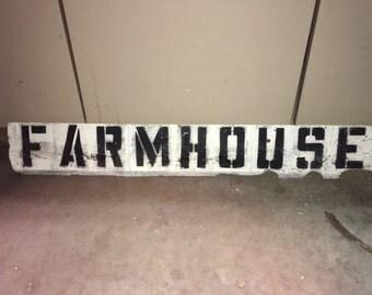 """Barnwood """"Farmhouse"""" hanging Sign"""