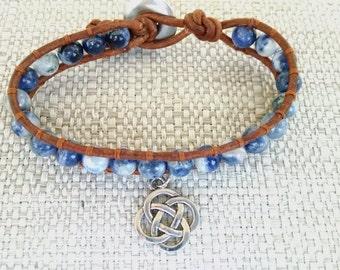Solodite Single Wrap Leather Bracelet