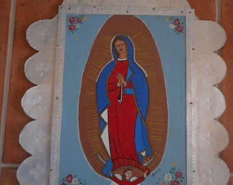 Retablo   virgin of  Guadlupe