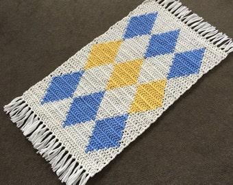 T-shirt Yarn Rug, Crochet T- shirt Yarn Rug, Handmade Rug, Handmade Bath Mat