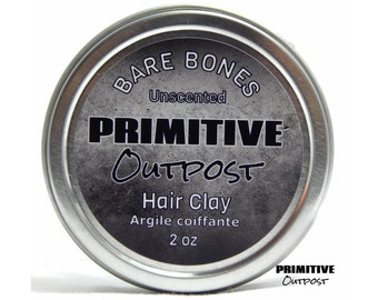 Bare Bones Unscented Hair Clay by Primitive Outpost