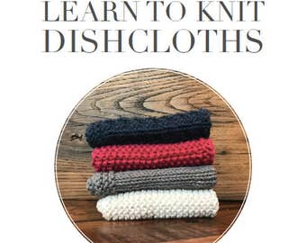 Learn to Knit Dishcloth Pattern (Digital Download)