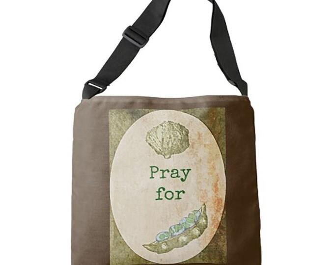 Bags, Totes, Cloth Bag, World Peas Cross Body Bag, Medium Bag, Cloth Bag, Reusable Tote