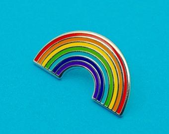 Rainbow Enamel Pin Badge | Pin Badges | Hard Enamel Pin Badge | Weather Pin Badge | Rainbow Badge Gift