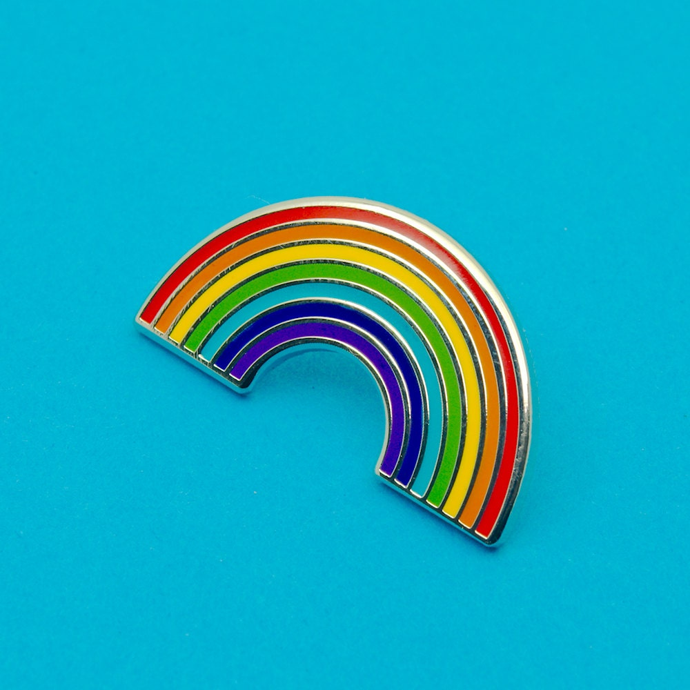 Rainbow Enamel Pin Lapel Badge By Ggs Pin Up Couture