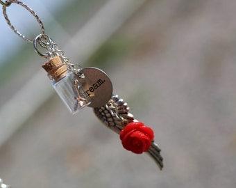 mini cork bottle necklace
