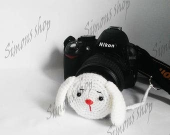 Lens cover for camera lens Photography Accessories Photographer Gifts camera lens cap lens cap leash photo accessories rabbit