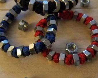 Paracord Bracelet with hex nut