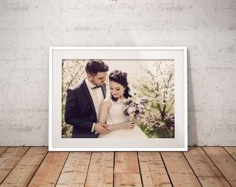 Instagram Brannan Filter Framed Fine Art Anniversary Print Wedding Fine Art Print Giclee Print Custom Wedding Print Artistic Print Photo