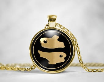 Pisces Zodiac Sign Necklace - Pisces Astrological Jewelry
