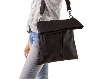 crossbody bag - leather crossbody - leather bag - leather purse - shoulder bag - crossbody purse - cross body bag - black crossbody