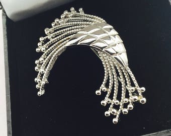 1960's Silvertone Monet Brooch