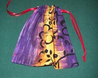 Jewelry bag - Purple/Yellow