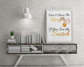 Printable Art If You See the Snitch Digital Download | Harry Potter Art | Harry Potter Digital Download