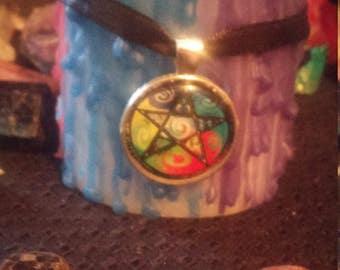 Element Pentagram Scented Altar Candle
