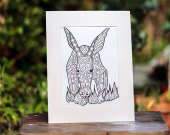 Aardvark Custom Print