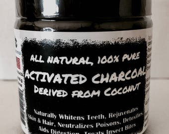 Teeth Whitening Coconut Activated Charcoal Powder - Food Grade