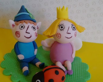 Ben and Holly inspired cake topper set, handmade, edible