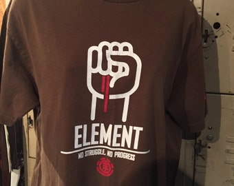Vintage Element Skateboards Brown Tee